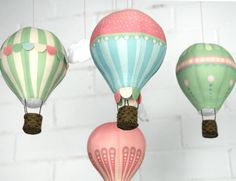 Craft Schmaft — Air Balloon Mobile Kit - Pink