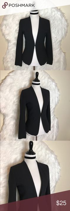 H&M black blazer Great, black blazer. Bought brand new on here, but it's too small!! So disappointed. Perfect condition. Would be perfect for the office or with jeans. H&M Jackets & Coats Blazers