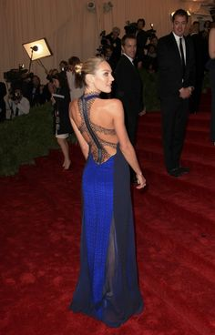 Candice Swanepoel in Rag and Bone at the Met Ball 2012