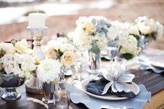 grey table wedding - Google Search