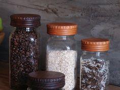 Wood Mason Jar Lids [2] - Pantry Jar Lids - Wood Top for Glass Jars - Pantry Organization - Storage Display
