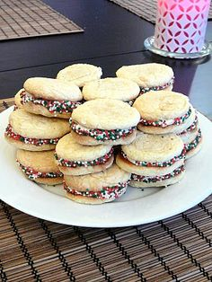Eggnog Sandwich Cookies : these might be in the running for our Christmas cookie exchange