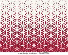 Abstract sacred geometry red gradient flower of life halftone pattern