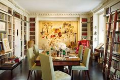 The Dining Room/Library courtesy Architectural Digest
