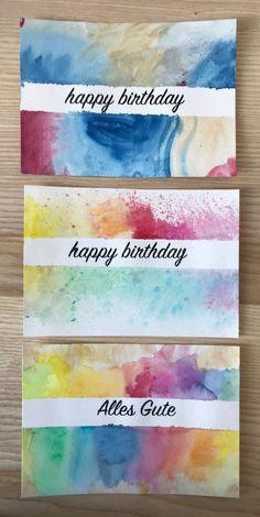 Romantic Birthday Cards, Best Friend Birthday Cards, Creative Birthday Cards, Daughter Birthday Cards, Homemade Birthday Cards, Birthday Cards For Boyfriend, Birthday Cards For Friends, Homemade Cards, Watercolor Postcard