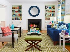 One #hgtvmagazine editor took her living room's style from traditional to colorful and contemporary http://www.hgtv.com/design/rooms/living-and-dining-rooms/new-and-improved-living-room-style?soc=pinterest