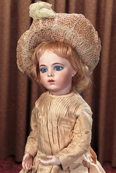 Keeper of the Dolls : 88 Gorgeous French Bisque Bebe Bru with Splendid Blue Eyes and Signed Bru Shoes