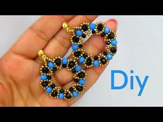 Tutorial - Brinco com Cristais e Miçangas - Diy Bijuterias - YouTube