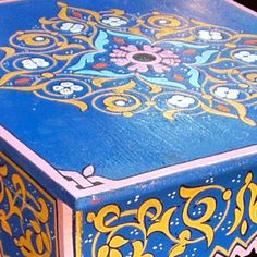 Detail. Hand painted moroccan furniture