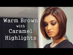 brown bob with caramel highlights - Google Search