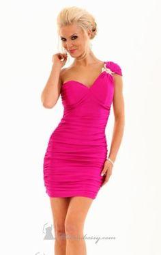 One Shoulder Mini Dress by Atria 7046