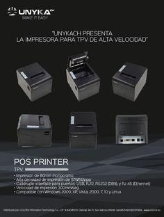 UNYKAch presenta su POS PRINTER, la impresora TPV de Alta Velocidad