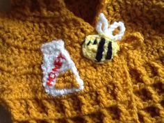 Bee and honey jar