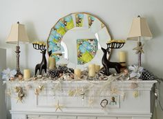 Beach cottage holiday mantle
