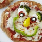 individual pizza creations for the older girls