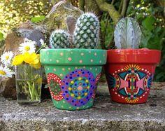 Seaglass genuino arte cactus suculentas aceo decoración hogar