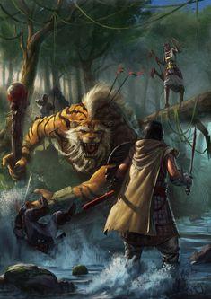 Jungle Skirmish by Mischeviouslittleelf.deviantart.com on @deviantART