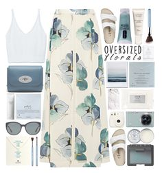 """""""Oversized Florals / 70"""" by dddawn ❤ liked on Polyvore featuring Tory Burch, Dogeared, Zara, Birkenstock, Mulberry, Clinique, Samsung, NARS Cosmetics, Christian Dior and Emporio Armani"""