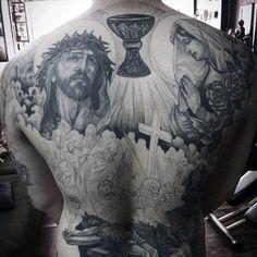 Christian Back Tattoo For Guys