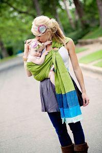 Cute sling. Cute mommy daughter matching headbands!!!