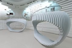 FSDU - Great sculpted from - Chesim Azin Phone Store, Camera Store, Retail Design, Interior Design, Mirror, Pos, Thesis, Space, Home Decor