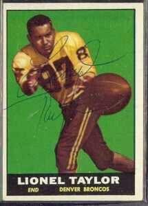 Lionel Taylor.  Denver Broncos first premier wide receiver.  1960-1966.