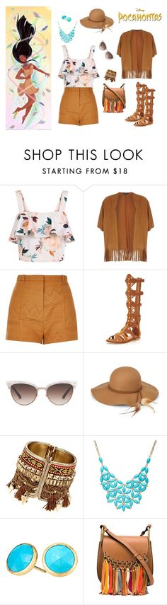 """""""Pocahontas inspired outfit"""" by sofiabad on Polyvore featuring moda, New Look, Dorothy Perkins, River Island, KG Kurt Geiger, Gucci, Steve Madden, Alexa Starr, Marco Bicego y My Little Pony"""
