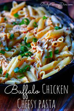 Buffalo Chicken Cheesy Pasta Recipe | Budget Savvy Diva