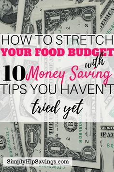 These tips will not only add money back to your food budget every month but it also helps you look at ways to start stretching your budgeting categories. The savings you can get from these tips can be used to pay down debt or add into your savings account. Budgeting can be so overwhelming but with these easy to follow and implement food budgeting tips you are more likely to stick with them. These are some amazing tips! #budget #grocerybudget #grocerysavings www.simplyhipsavings.com