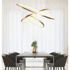 Chandelier Lighting Fixtures, Chandelier In Living Room, Ceiling Chandelier, Led Pendant Lights, Modern Chandelier, Ceiling Lights, Chandeliers, High Ceiling Lighting, Modern Dining Room Lighting