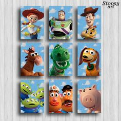toy story print set of 9 toy story room poster disney decor toy story party by Stoosyart on Etsy https://www.etsy.com/uk/listing/295362629/toy-story-print-set-of-9-toy-story-room