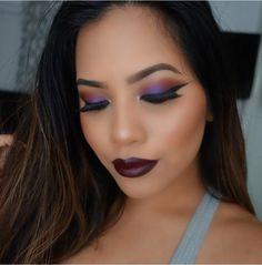 Purple pop of eyeshadow