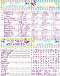 CUSTOM Butterfly Baby Shower Games Print At by ChrispixsCreations