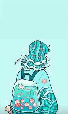 Cute Pastel Wallpaper, Anime Scenery Wallpaper, Cute Patterns Wallpaper, Cute Anime Wallpaper, Wallpaper Iphone Cute, Cute Cartoon Wallpapers, Animes Wallpapers, Arte Do Kawaii, Kawaii Art