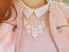 Shades of Ivory : [Outfit] Rosé Lederjacke und Sweater I Immer wieder Sonntags #10