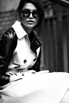 love the black/white trench