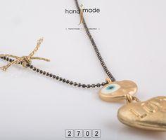 Κολιέ με μακρυά αλυσίδα , χειροποίητο φιόγκο , ματάκι και χρυσή καρδιά. Women's Necklaces, Handmade Jewelry, Pendant Necklace, Fashion, Moda, Necklaces For Women, Handmade Jewellery, Fashion Styles, Jewellery Making