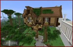 Minecraft Treehouse by X-Luminare-X