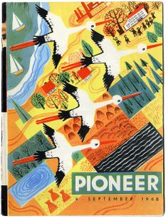Front cover of Pioneer, an Estonian children's magazine. September 1968. Via kindra_is_here