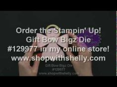 Make an adorable angel with the Stampin' Up!Gift Bow Bigz Die!  Watch to see how easy it is.  Order the Gift Bow Bigz Die in my online store http://www.stampinup.com/ECWeb/ProductDetails.aspx?productID=129977&dbwsdemoid=33637  Visit my stamping blog http://www.stampingsmiles.com