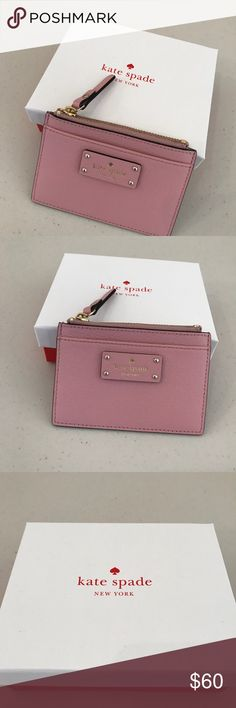 NWT KATE SPADE ADI GROVE STREET PINKBONNET WALLET Brand: kate Spade New York adi grove street wallet with box               Condition: New with tag || pink bonnet    📌NO  TRADES  🛑NO LOWBALL OFFERS  ⛔️NO RUDE COMMENTS  🚷NO MODELING  ☀️Please don't discuss prices in the comment box. Make a reasonable offer and I'll either counter, accept or decline.   I will try to respond to all inquiries in a timely manner. Please check out the rest of my closet, I have various brands.. kate spade Bags…