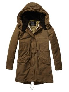 Iconic Peached Cotton Parka > Womens Clothing > Jackets at Maison Scotch
