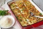 Elizabeth Mindreau's baked pasta with meat sauce and bechamel. Pasta Casserole, Pasta Bake, Casserole Recipes, Greek Cooking, Fun Cooking, Cooking Recipes, Greek Recipes, Quick Recipes, Gratin