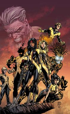 New Mutants - David Finch - Comic Art Work By David Finch