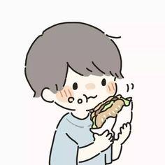 Artist: @hnt0002 on twitter Cute Anime Chibi, Cute Anime Pics, Cute Anime Boy, Cute Anime Couples, Kawaii Anime, Cute Anime Character, Cute Characters, Anime Characters, Fictional Characters