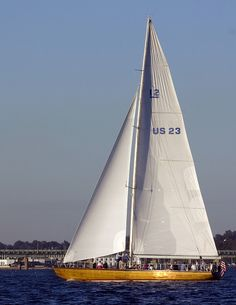 12 Metre US-23 Heritage - Built 1970, America's Cup Contender 1970, currently in Newport, RI by beckstei, via Flickr