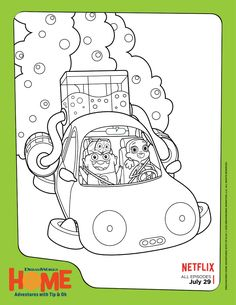 Free Dreamworks Home Coloring Page