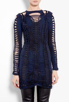 Shredded Tie Dye Dress by Versus by Versace