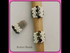 Buttoned Up Peyote Ring - YouTube