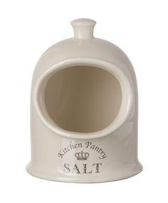 Majestic Cream Salt Pig, Kitchen Storage Jar Pot: Amazon.co.uk: Kitchen & Home